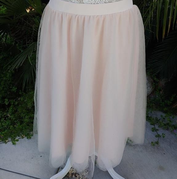 487dfd6c7c Charlotte Russe Skirts | Blush Pink Tulle Midi Skirt 2x | Poshmark